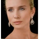 Diamond Halo Drop Earrings 6.66ct in 18K Rose Gold P3491 - image 3
