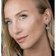 Diamond Swirl Drop Earrings 0.65ct Set in 18K White Gold - image 2