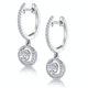 Diamond Swirl Drop Earrings 1.15ct Set in 18K White Gold - image 3
