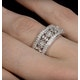 Vintage Wide Diamond Ring - Florence - 0.75ct 18K White Gold - N4528 - image 4