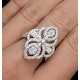 Vintage Diamond Ring 1.75CT H/Si in 18K White Gold - N4547 - image 4