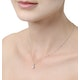 Galileo 1.00ct Look Diamond 0.41ct 18K White Gold Solitaire Necklace - image 2