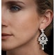 Diamond Pyrus Drop Chandelier Earrings 5ct in 18K White Gold P3402 - image 4