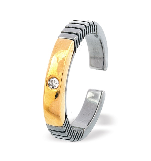 18K Gold Titanium Ring - image 1