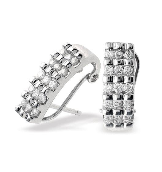 18K White Gold Diamond Earrings (0.50ct)