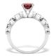 Stacking Ring Set Garnet Rings Sterling Silver - UT33229 - image 2