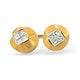 18K Gold Princess Diamond Stud Earrings (0.15ct) - image 1