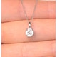 Galileo 1.00ct Look Diamond 0.41ct 18K White Gold Solitaire Necklace - image 4