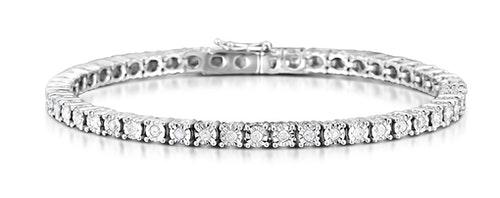 Silver Diamond Tennis Bracelets