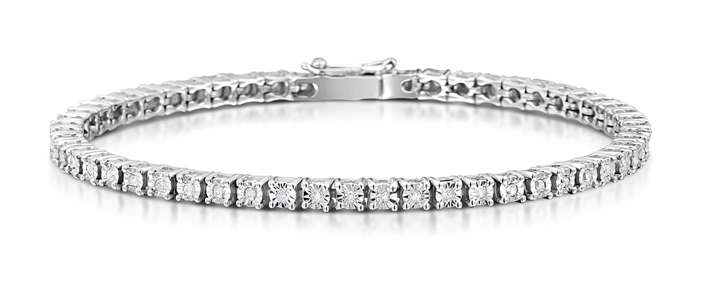 Silver Diamond Set 0.57ct Tennis Bracelet