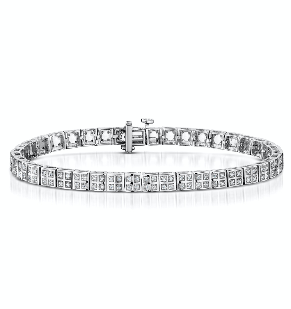 Vivant Collection Diamond Bracelet 0.52ct in 925 Silver - UD3258