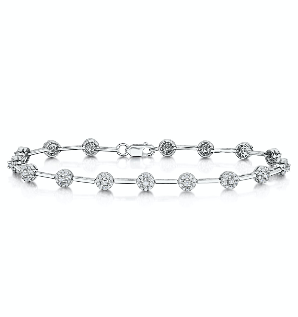 Vivant Collection 1CT Diamond Bracelet in Sterling Silver - UD3259
