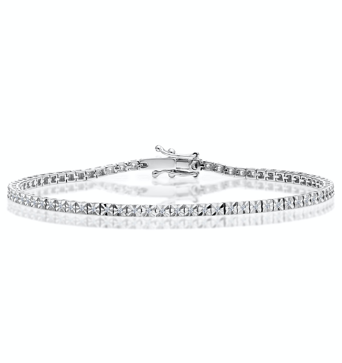 Silver Diamond Set 0.60ct Tennis Bracelet