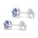 Tanzanite 1.00CT high quality (AA) 925 Silver Earrings - image 2
