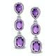 Amethyst Drop Earrings in Sterling Silver - UG3245 - image 1