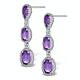 Amethyst Drop Earrings in Sterling Silver - UG3245 - image 2