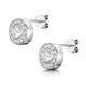 Tesoro Collection Round Bezel Set White Topaz Earrings in 925 Silver - image 3