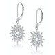 Silver Starry Sun Dial Earrings with White Topaz - Tesoro Collection - image 3