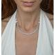 Allura Collection Tassle Design Diamond Necklace 0.02ct in 925 Silver - image 2