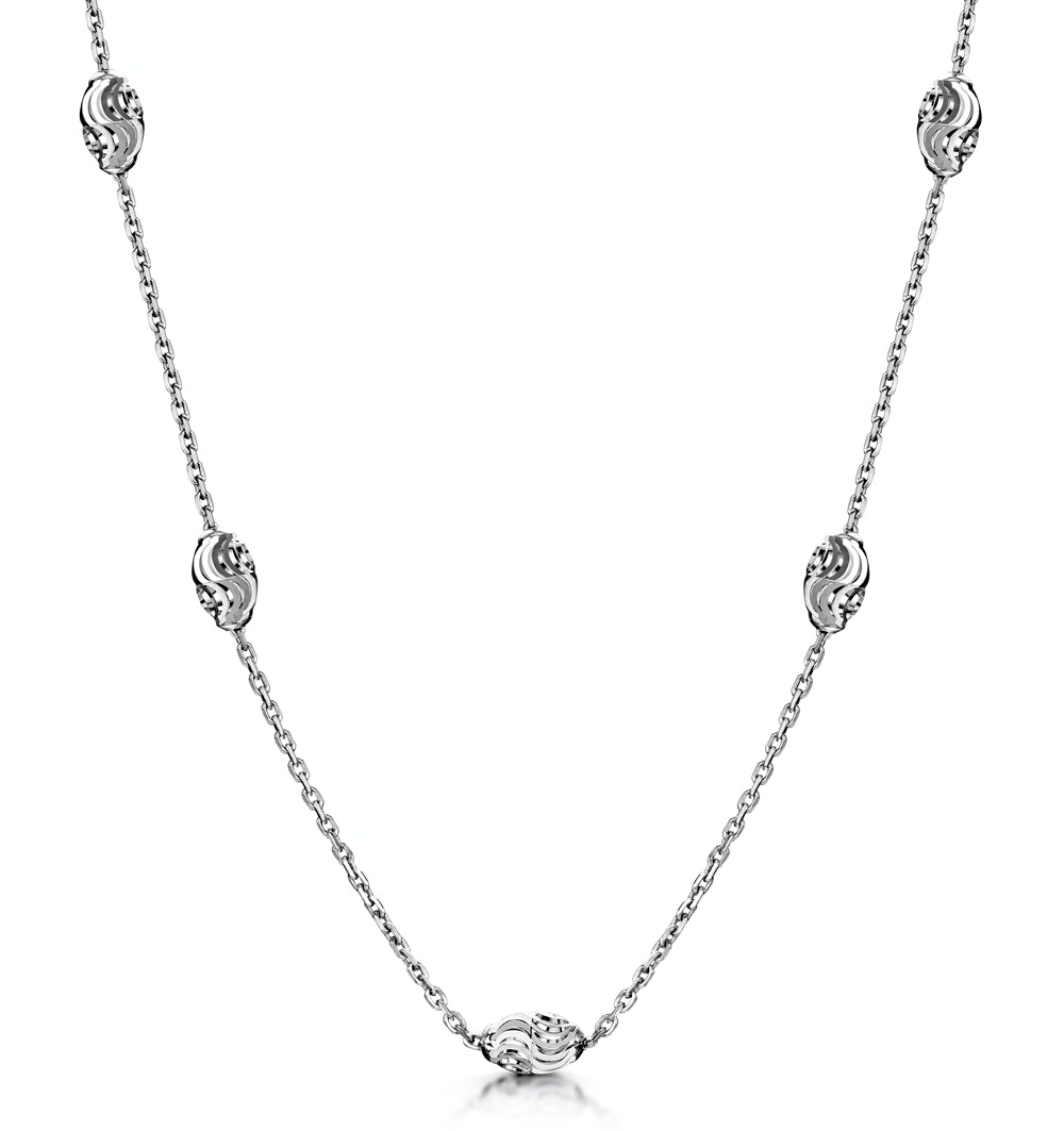 Tesoro Collection Moon Cut Necklace in 925 Silver - UP3246