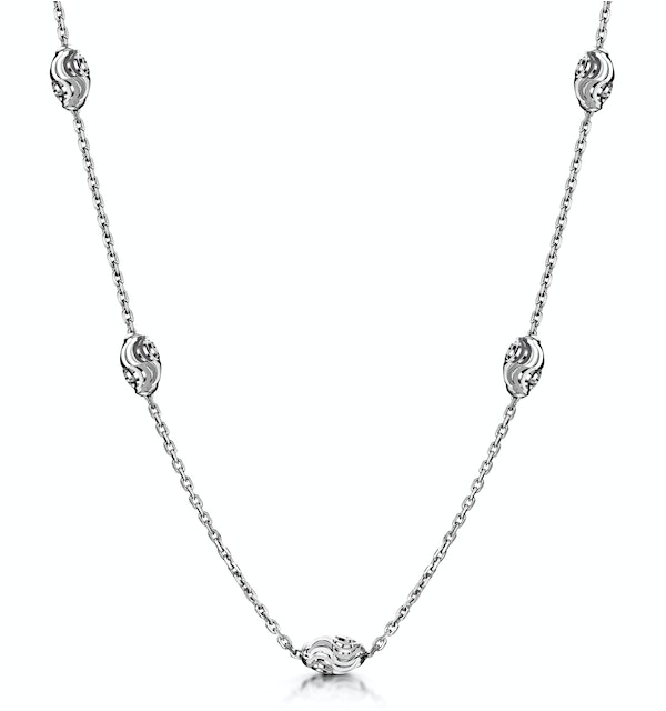 Tesoro Collection Moon Cut Necklace in 925 Silver - UP3246 - image 1