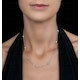 Tesoro Collection Moon Cut Necklace in 925 Silver - UP3246 - image 2