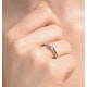 Engagement Ring Certified Low Set Chloe 18K White Gold Diamond 0.25CT - image 4
