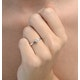 Engagement Ring Certified Lily 18K White Gold Diamond 0.33CT - image 4