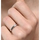 Certified Jessica 18K White Gold Diamond Engagement Ring 0.25CT - image 4