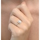 Halo Engagement Ring Ella 0.80ct SI Emerald Cut Diamonds 18KW Gold - image 3