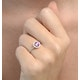 Halo 18K White Gold Diamond and Pink Sapphire Ring 0.36ct - image 4