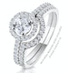 Ella Halo Diamond Engagement Ring 0.86ct H/SI1 Quality 18K White Gold - image 4