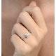 Halo Engagement Ring Ella 18K Gold Diamond Princess Cut 0.82ct SI - image 3
