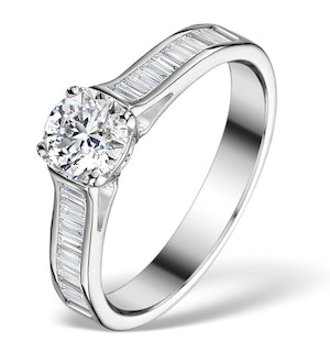 SIDESTONE ENGAGEMENT RING COCO 0.80CT G/SI2 DIAMONDS 18K WHITE GOLD