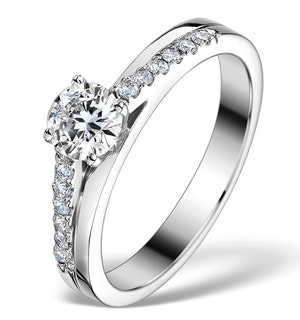 SIDESTONE ENGAGEMENT RING CELESTINE 0.65CT SI2 DIAMONDS 18K WHITE GOLD