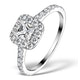 Halo Engagement Ring Aria 1.30ct VS1 Princess Diamond 18K White Gold - image 1