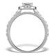 Halo Engagement Ring Aria 1.30ct VS1 Princess Diamond 18K White Gold - image 2