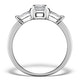 Sidestone Engagement Ring Galina 0.80ct Emerald Cut Diamond 18K Gold - image 2