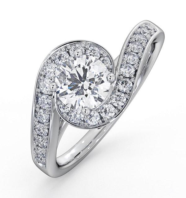 Anais GIA Diamond Engagement Halo Ring 18KW Gold 1.05CT G/SI1