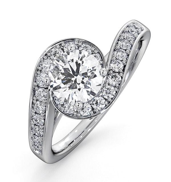 Anais GIA Diamond Engagement Halo Ring Platinum 1.28CT G/VS2