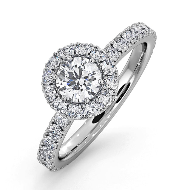 Alessandra GIA Diamond Engagement  Ring Platinum 1.10CT G/VS1