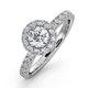Alessandra GIA Diamond Engagement  Ring Platinum 1.10CT G/SI2 - image 1