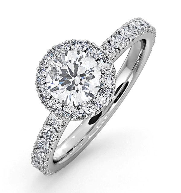 Alessandra GIA Diamond Engagement  Ring 18KW Gold 1.35CT G/VS2