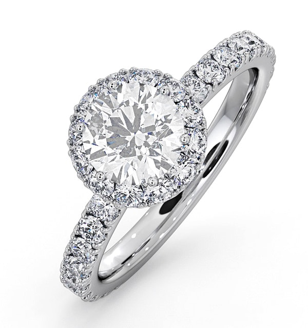 Alessandra GIA Diamond Engagement  Ring Platinum 1.60CT G/VS2