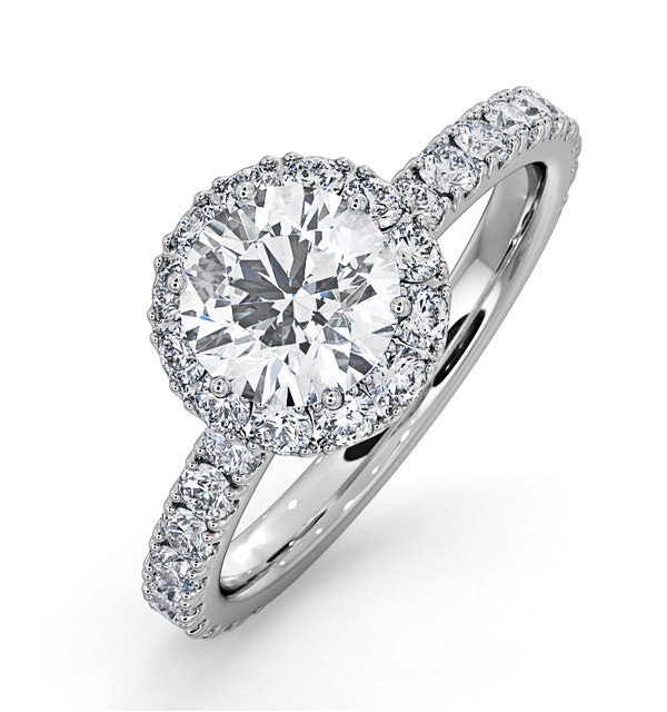 Alessandra GIA Diamond Engagement  Ring Platinum 1.70CT G/VS1 - image 1