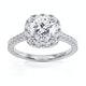 Elizabeth GIA Diamond Halo Engagement Ring in Platinum 1.70ct G/VS1 - image 3