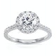 Reina GIA Diamond Halo Engagement Ring in Platinum 1.80ct G/SI2 - image 3