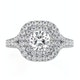 Anastasia GIA Diamond Halo Engagement Ring in Platinum 1.30ct G/VS1 - image 2