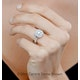 Anastasia GIA Diamond Halo Engagement Ring in Platinum 1.30ct G/VS1 - image 4