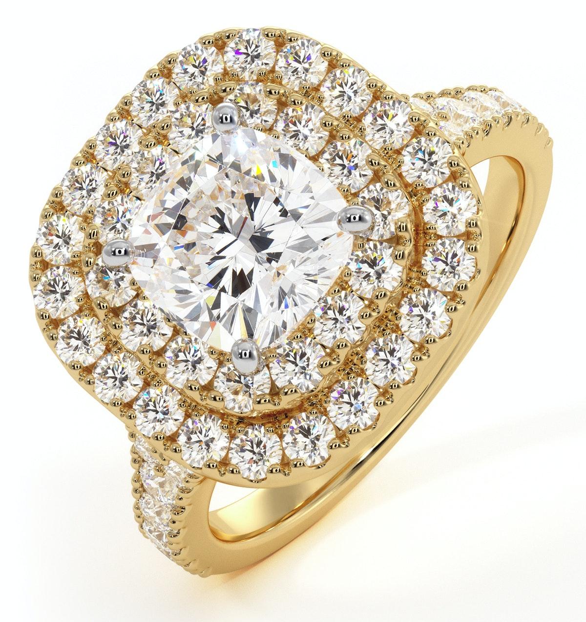 Anastasia GIA Diamond Halo Engagement Ring in 18K Gold 1.85ct G/VS1